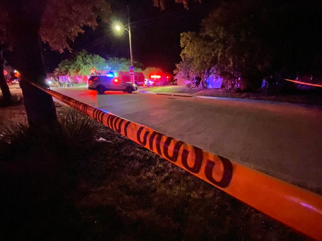 Wichita Falls Police work the scene of a June 30, 2021, fatal shooting at Avenue L and Taylor Street.