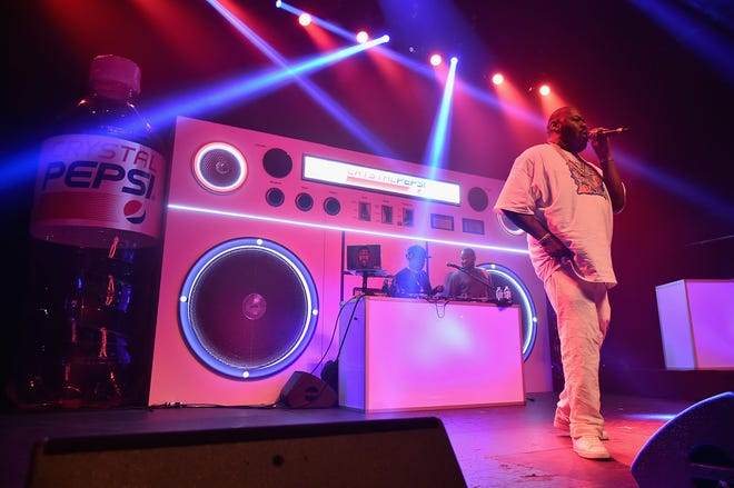 Biz Markie performed onstage at Crystal Pepsi Summer of '92 in August 2016 in New York City.
