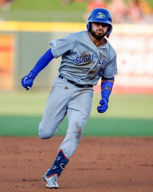 Sugar Land infielder Alex De Goti runs the bases after a hit against Round Rock on Thursday. The Skeeter was part of a successful 2019 season for the Express when the club was affiliated with the Houston Astros.