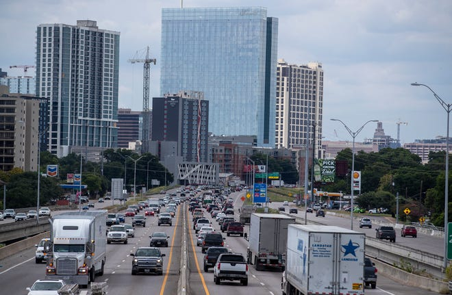 Evening rush-hour traffic in Austin on Friday, July 2. [STATESMAN/FILE]