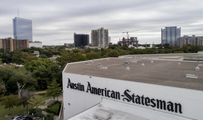 The Austin American-Statesman building is located in downtown Austin.