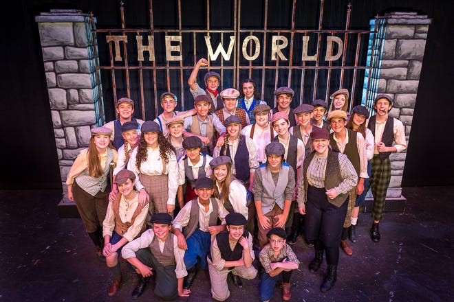 """The cast of """"Newsies,"""" the newest production from the Amarillo Little Theatre's Academy."""