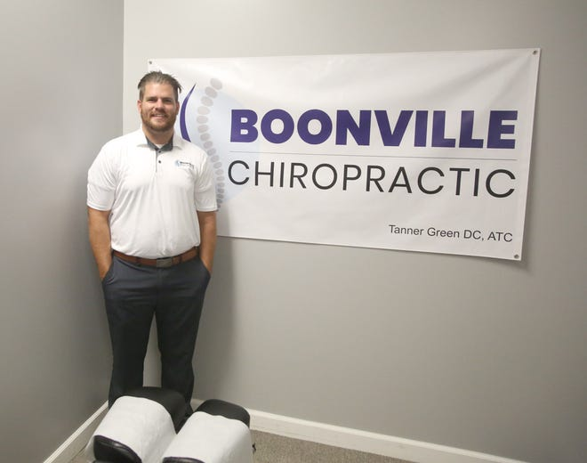 Tanner Green, a 2013 graduate of Boonville High School, has opened up his own chiropractice care in Boonville. Green was named successor to Dr. David Holtwick, who practiced chiropractic care for 39 years.