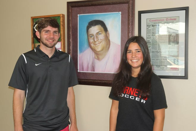 2021 Chillicothe High School graduates Dalton Ripley and Hallie Jones are recipients of the annual Bob Carter Memorial Scholarship awarded in honor of the Constitution-Tribune's late, long-time sports editor who died in a November 2021 car crash. The duo will split the $1,000 award funded through a fund established following his death and maintained through the past 20 years with donations from Carter's legion friends and acquaintances.