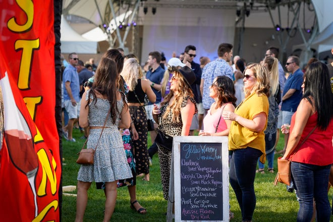 This is a scene from the 2019 Columbus Summer Wine Festival held at the John F. Wolfe Columbus Commons in downtown Columbus. This year's event, the Columbus Summer Wine Festival, Whitehall Edition,will be held from 4 to 8 p.m. July 17 at the new Kelley Green park, 105 Norton Park Drive.