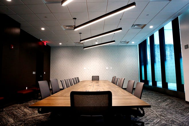 Lingerfelt CommonWealth Partners is spending millions renovating the Chase tower Downtown, including this conference room.