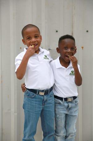 Kami Jr. and Konnor Gauche of Amazin Kajin Pickles in Houma.