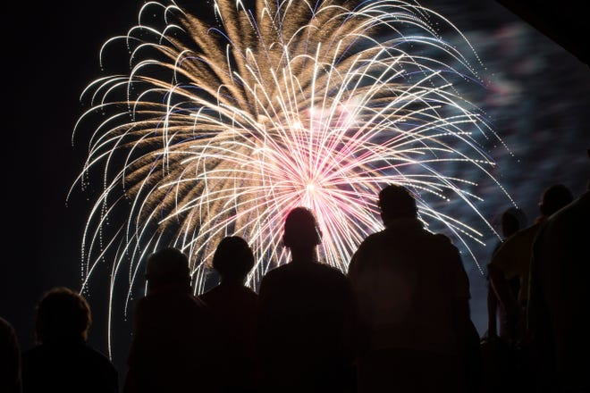 Leesburg Lightning fans enjoy fireworks after watching a 3-2 the Lightning beat Winter Park on July 4, 2015 at Pat Thomas Stadium-Buddy Lowe Field in Leesburg. [FILE]