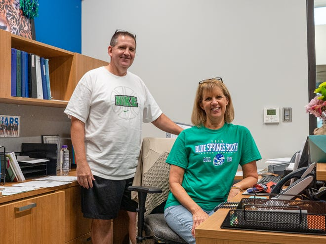 For the past nine years, Tim Michael has been the activities director at Blue Springs South High School. Pam Hahn has worked at South the past 26 years, including the past 16 years as the activities director's assistant. Both have announced their retirement and their last day at South was Wednesday.