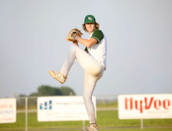 West Burlington High School senior Ty Hill fired a two-hit shutout to lead the Falcons past Class 1A's ninth-ranked New London Thursday at New London.