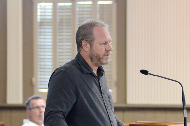 Ascension Parish President Clint Cointment speaks during the July 1 council meeting at the courthouse in Donaldsonville.