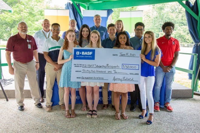BASF awarded scholarships to 11 high school seniors, eight of which are from Ascension Parish schools. The scholarships total $32,000.
