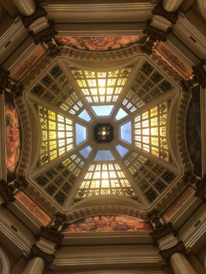 The Monroe County Courthouse dome.