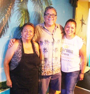 The owners of Mexico City Cafe. From left, Mona Chaparro, Robert Chaparro and Lisa Chaparro-Lucero.