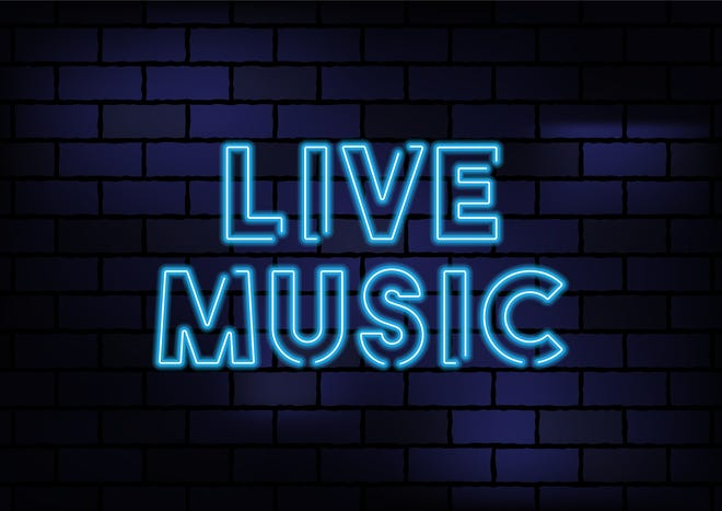 Live music sign.