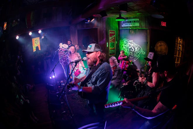 Chad Sullins performs in Stillwater at the Bob Childers' Gypsy Cafe, an annual benefit for the Red Dirt Relief Fund.