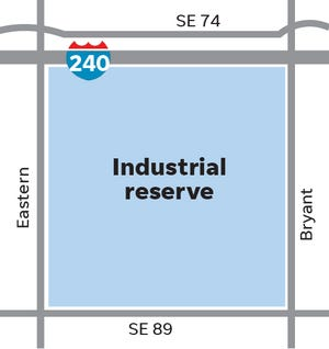 The Oklahoma Industries Authority recently acquired 577 acres at Interstate 240 and Eastern Avenue that will be used to lure new industry to Oklahoma City.