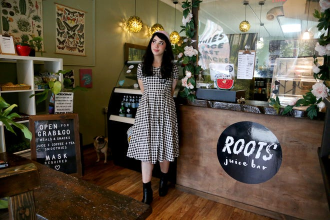 Roots Vegan Cafe & Juice Bar owner Kaley Rae Fellows said her business is in danger of closing because she did not receive a grant through the federal Restaurant RevitalizationFund.