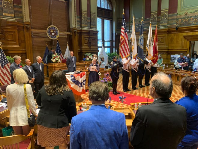 The Providence City Council on Thursday held its first in-person meeting since March 2020.