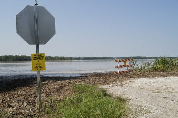 Many Missouri Department of Conservation river accesses will be inaccessible or unsafe for public use through the Fourth of July weekend and into the following week. Plan ahead and check conditions before using boat ramps this weekend, especially on the Missouri River and its major tributaries in central Missouri.