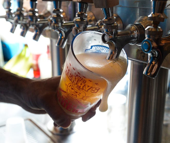 Sarasota-Manatee is home to several standout craft beer bars, such as Origin Craft Beer & Pizza Cafe, pictured here.