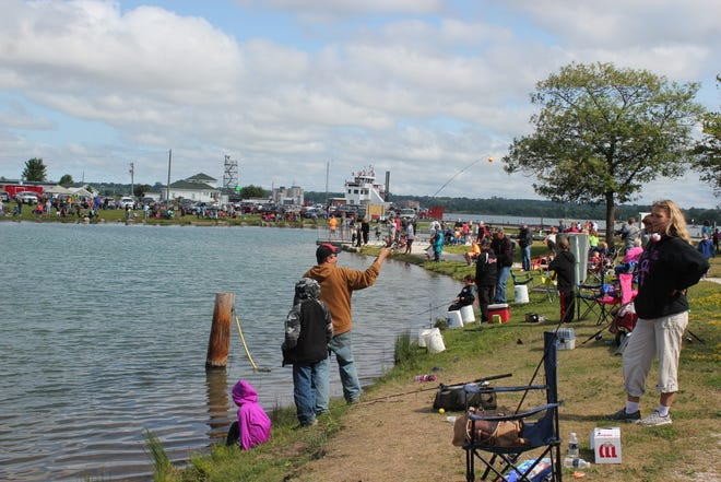 A 2018 photo of the Connor Gorsuch Kids Fishing Day at the Kids Fishing Pond at Rotary Park in the Sault.