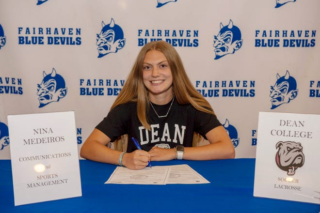 Fairhaven's Nina Medeiros will play soccer and lacrosse at Dean College.