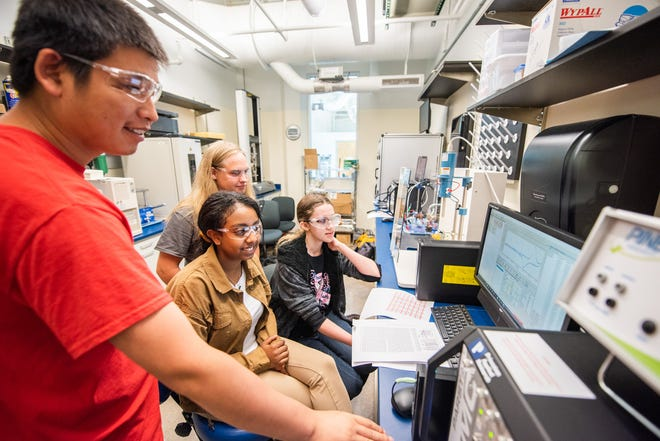 Several high school students are spending this summer researching renewable energy at Pittsburg State University.