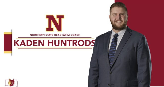 Kaden Huntrods was named the next head coach for the Northern State swim program on Friday, July 2. Courtesy of Northern State Athletics.