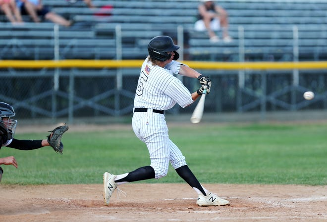 Aberdeen Smittys' Tyler Hoffman went 2-for-5 as the Smittys won 12-7 in Thursday's opener at the Clark Tourney.