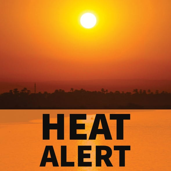 The National Weather Service says a major heatwave could be coming by the weekend of July 10-12