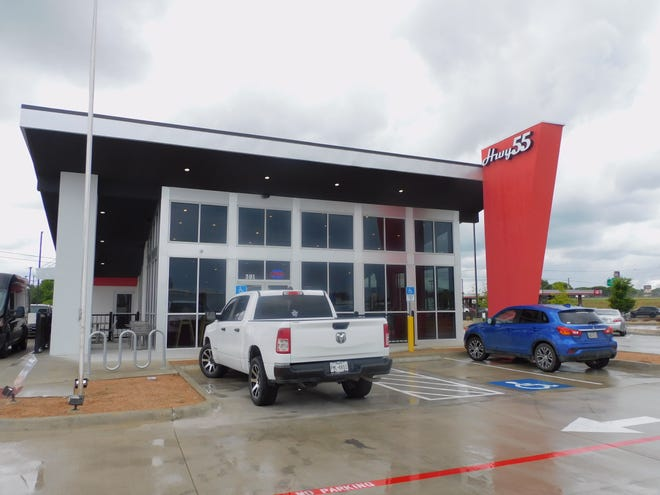 The Hwy 55 standalone store front is seen at its first Texas location, in Ennis.