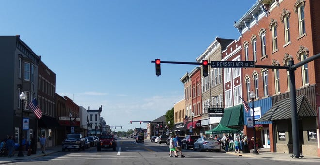 South Sandusky Avenue bustles with activity during the June First Friday event, sponsored by the Bucyrus Area Chamber of Commerce.