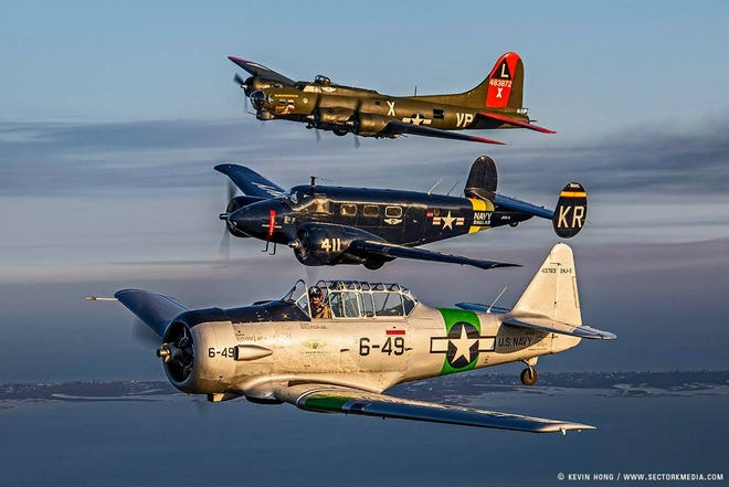 Three vintage World War II aircraft will arrive in Clarksville July 13-15 for tours and warbird flights at Clarksville Regional Airport.