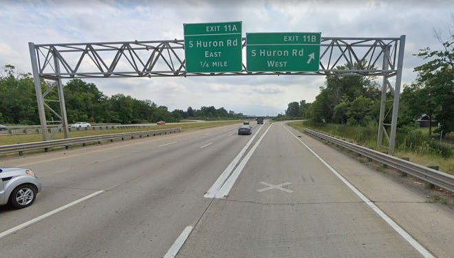 Interstate 275 at South Huron Road in Huron Township.