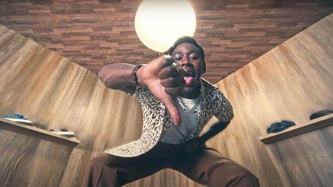 "Tyler, the Creator in the music video for ""LUMBERJACK."""