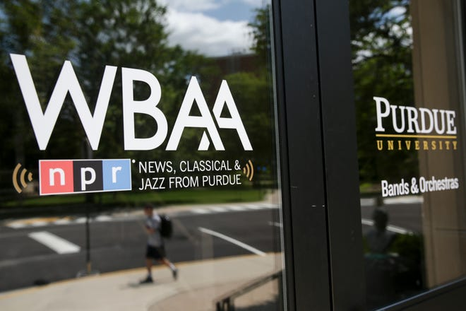 WBAA radio station in the Elliott Hall of Music at Purdue University, Friday, July 2, 2021 in West Lafayette.