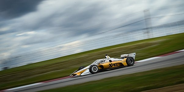 Josef Newgarden gave Team Penske the fastest lap during Friday's practice round of the Indy 200 at Mid-Ohio.