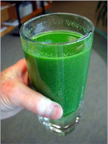 A cup of water from Lake Erie during the algae bloom in 2003.
