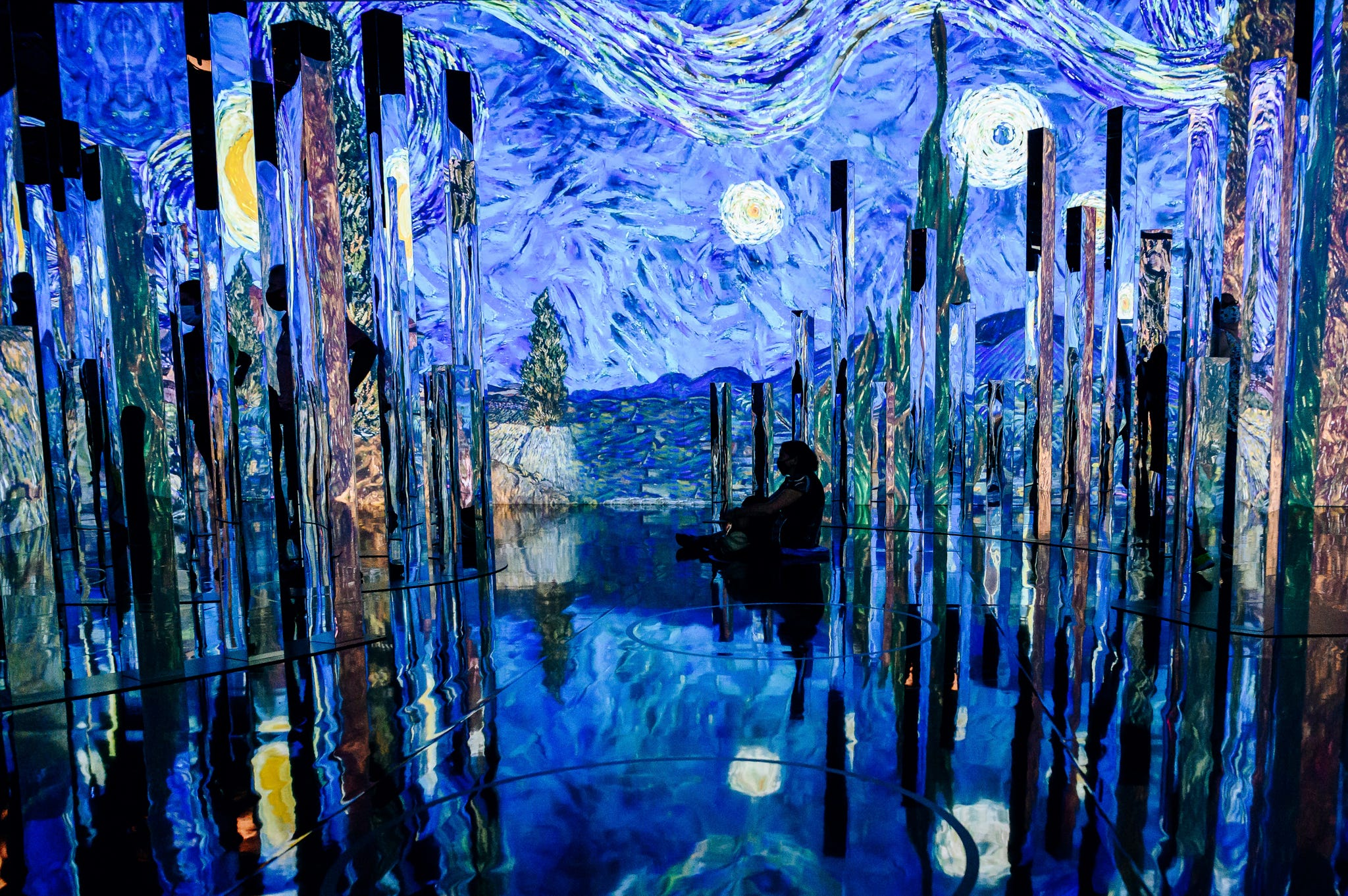 Two  immersive  Van Gogh exhibits go head-to-head in NYC, reflecting growing trend