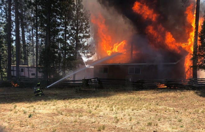 Fire crews from multiple agencies responded to a fire in the Burney area that was first reported Thursday, July 1, 2021 and continued on Friday, July 2, 2021.