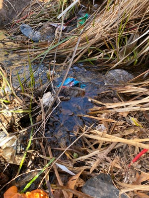 Polluted waterway in Southern Utah after inspection