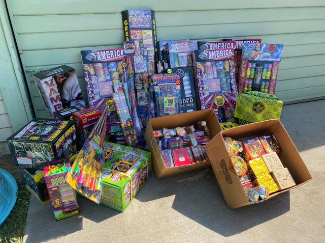 Tulare County authorities seized more than 500 pounds off illegal fireworks in a joint operation conducted by the district attorney's office and fire department.