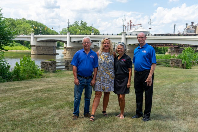 Jack Brady, Kelly Ashby, Becky Joseph and Ron Mautz are some of the people involved in launching a downtown banner initiative to honor local veterans.
