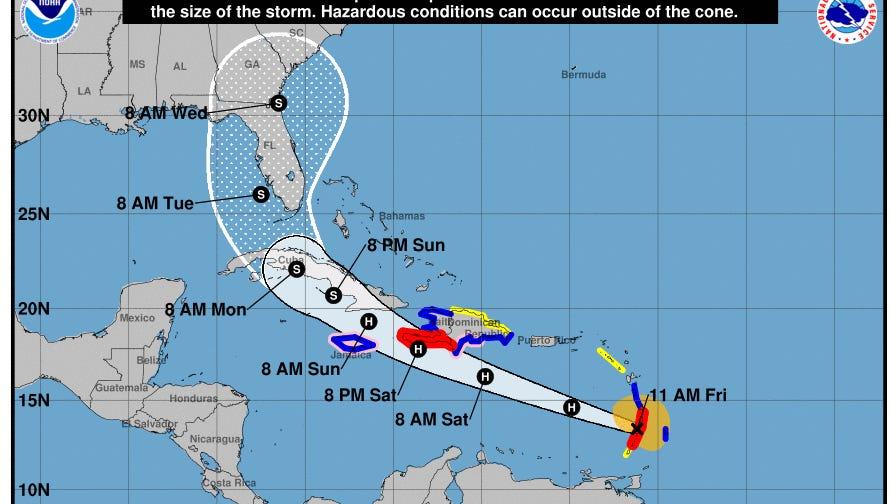 Elsa Becomes First Hurricane of Atlantic Season; Florida in Path
