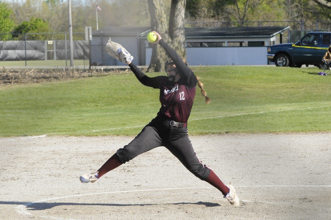 Morenci's Ellie Price delivers a pitch during a game in the 2021 season.