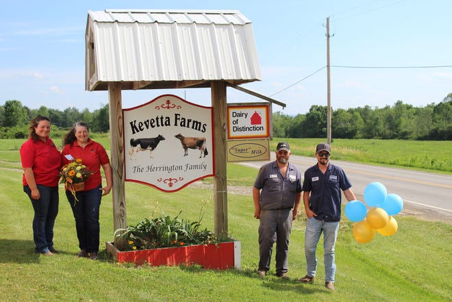 Kevetta Farms, operated by Kevin and Annetta Herrington along with their children Jessica and Tyler, has been named the Livingston County Farm of the Year.