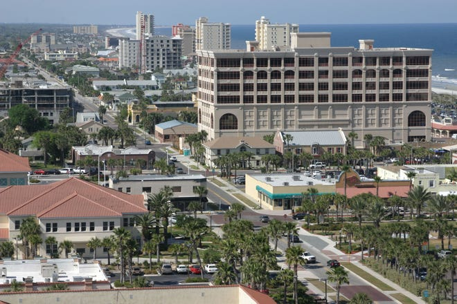 The greatest concentration of tall oceanside buildings in Northeast Florida is along a stretch of Jacksonville Beach as shown in this file photo.