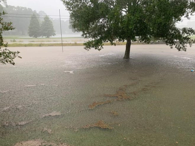 A downpour late July 2 causes flooding in parts of Ascension Parish.