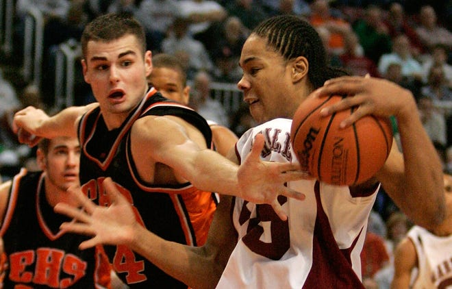 Edwardsville's Dustin Maguire competes in the 2006 Class AA boys basketball state finals at Carver Arena in Peoria. Maguire now is a lawyer in Edwardsville advising college athletes on the name and image likeness landscape.